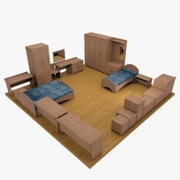 3ds max hotel room