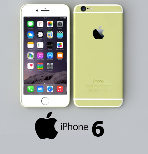 3dsmax apple iphone 6 gold
