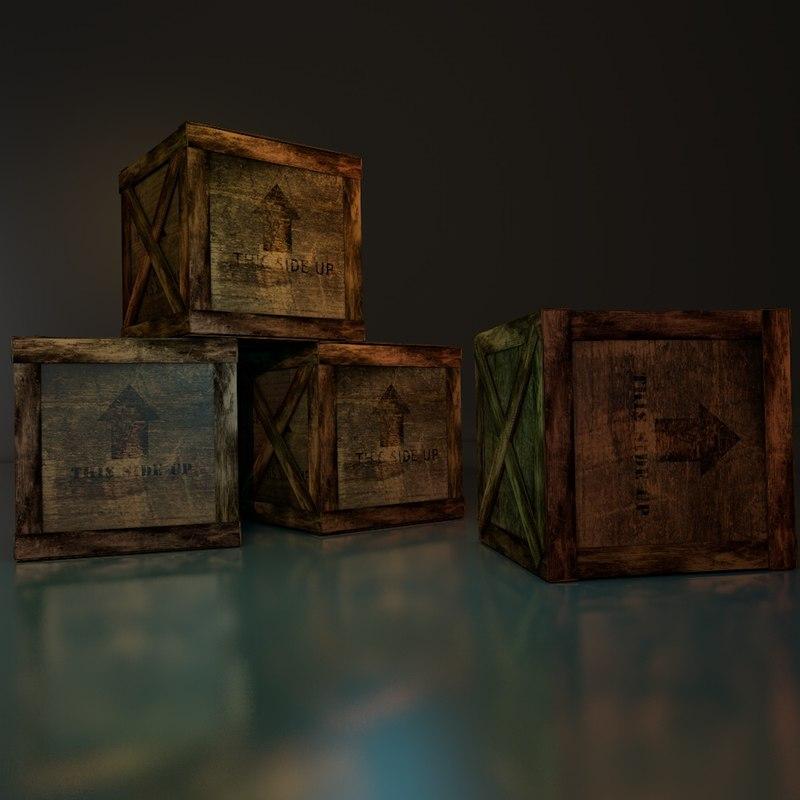 box set 3d model