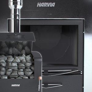 3d model harvia classic 400 duo