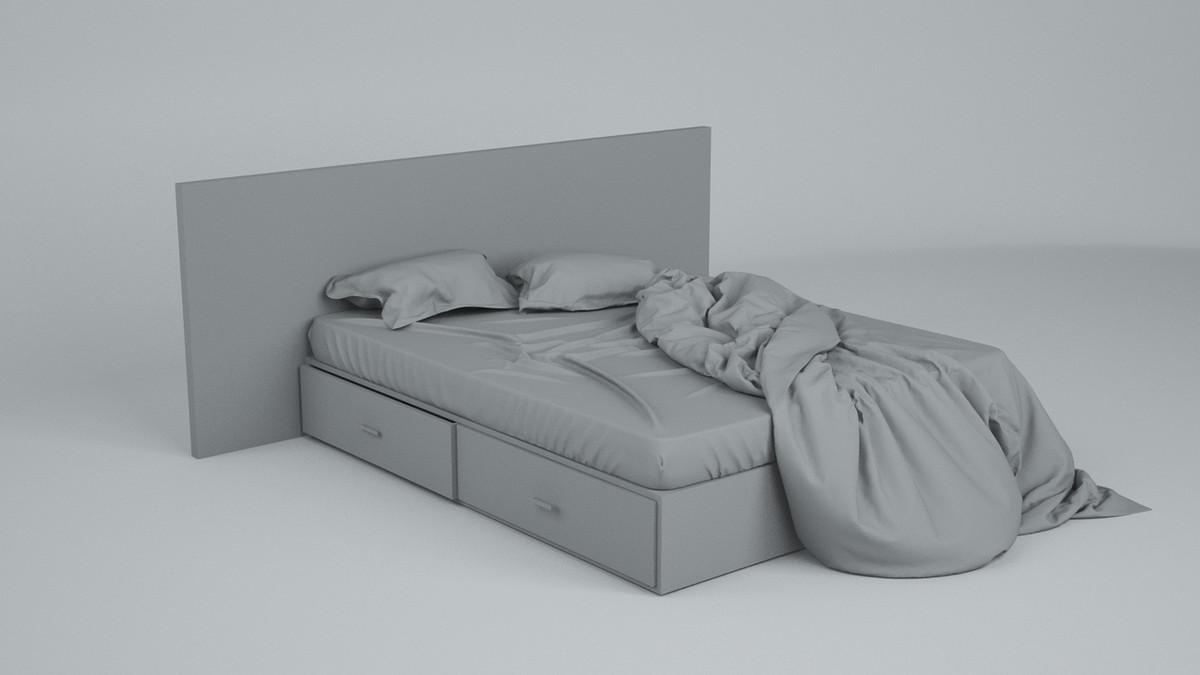 3d model bed sheets