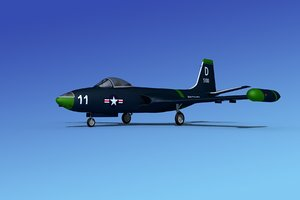 cockpit f2h banshee jet fighter 3d model