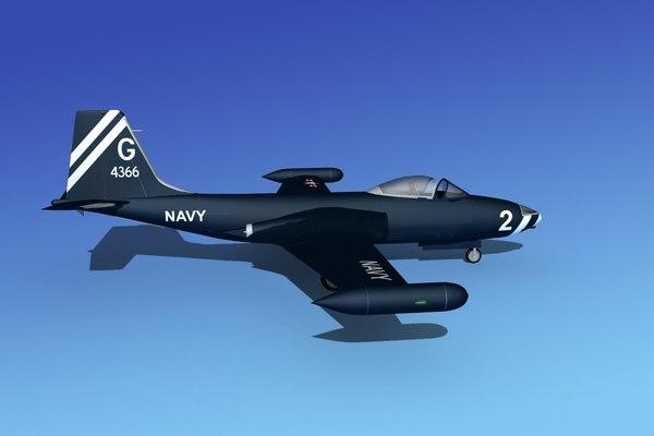 max cockpit f2h banshee jet fighter