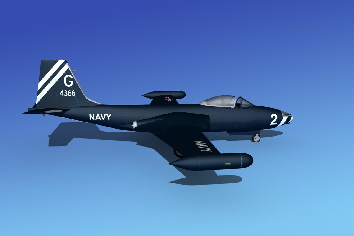 max cockpit f2h banshee jet fighter