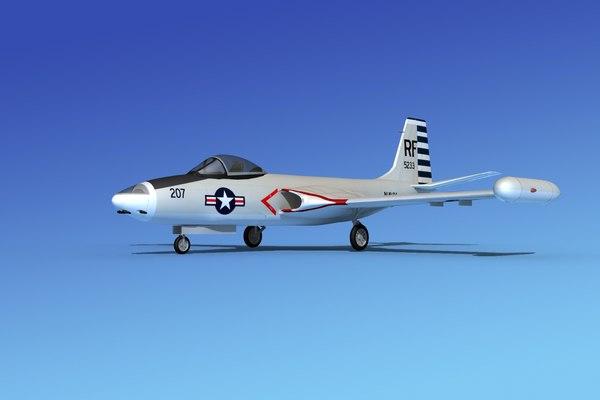 3d model of cockpit f2h banshee jet fighter