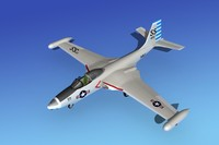 obj cockpit f2h banshee jet fighter