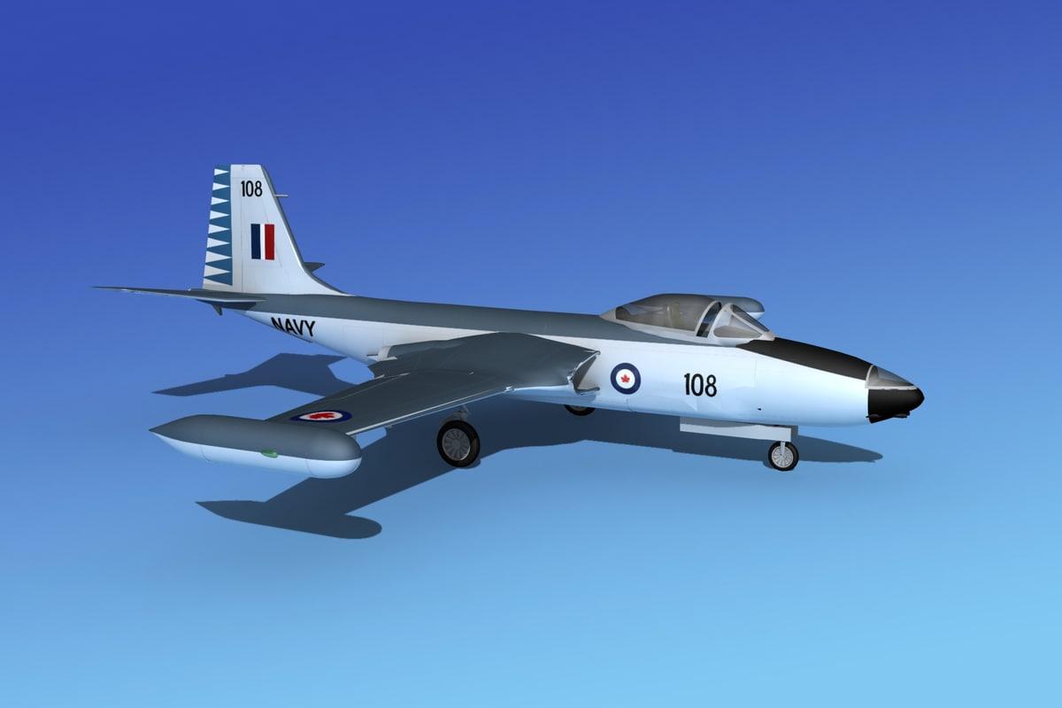 cockpit f2h banshee jet fighter 3d 3ds