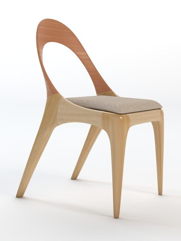 sleek furniture pieces 3d model