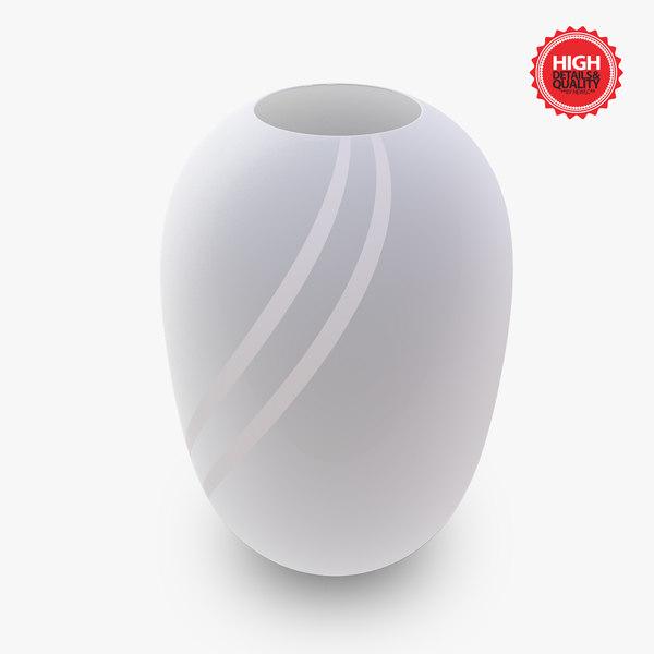 3d model of vase design white