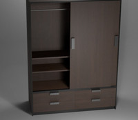 Wardrobe (dark wood)