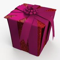 3d christmas gift present box model