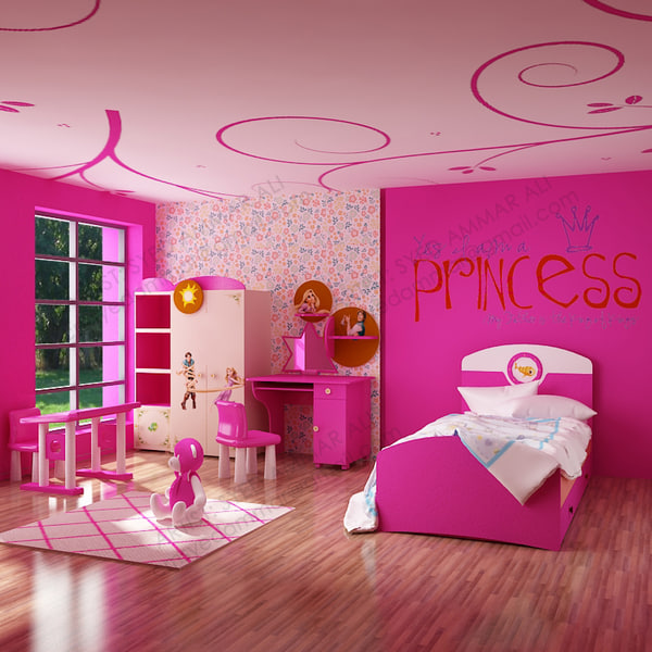 girls room 3d model