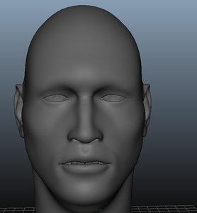 uv head 3d model