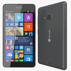 realistic microsoft lumia 535 3d 3ds