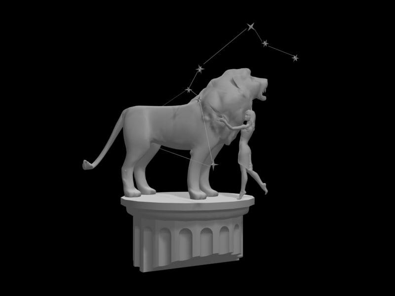 zodiac lion 3d model