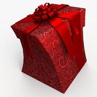 christmas gift present box 3d max