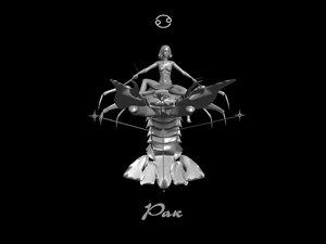 3d model zodiac crab