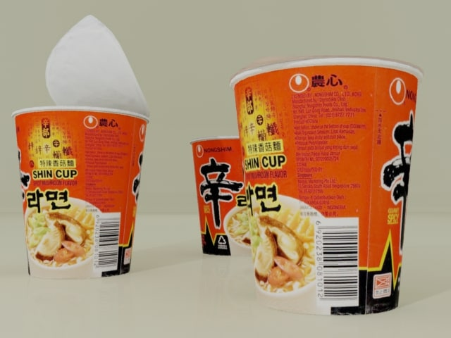 3dsmax nong shim cup spicy