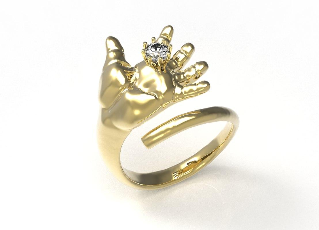 ring baby 3d model