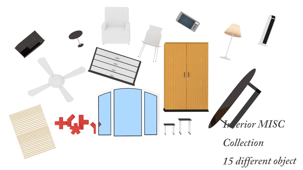3d interior element model