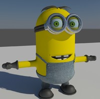 tall minion 3d 3ds