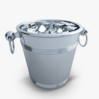 3ds max champagne bucket ice