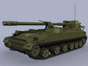 3d model 2s5 giatsint-s artillery