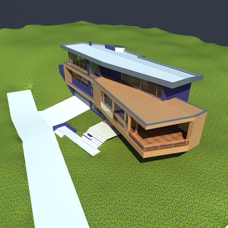 cullen house 3d max