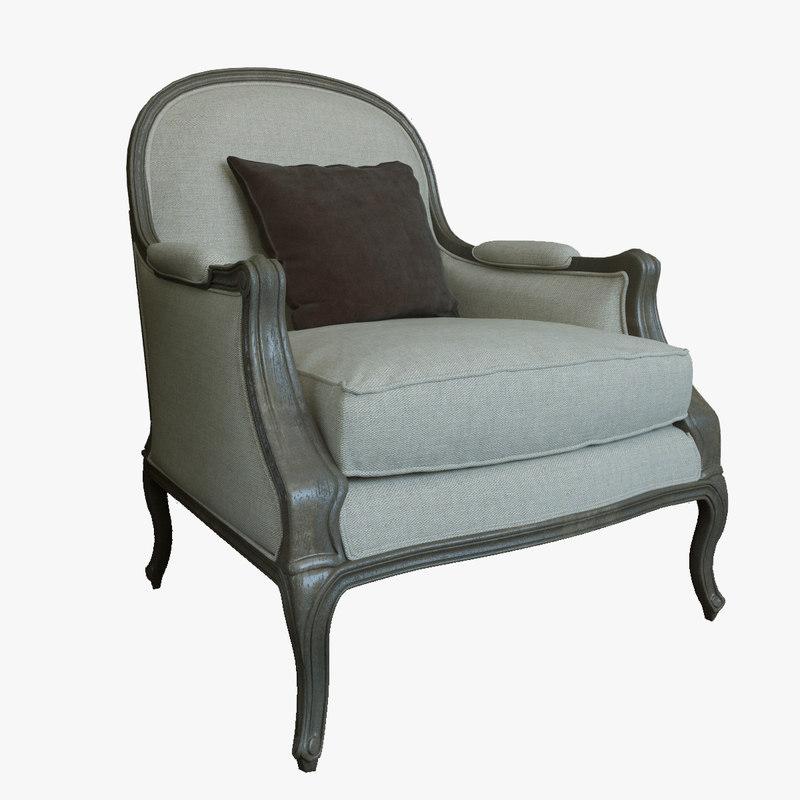 3d realistic chair restoration hardware