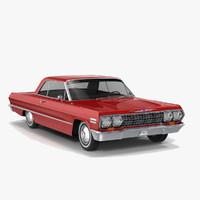 3d impala 1963 coupe model