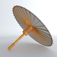 asian umbrella chinese 3d 3ds
