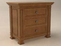 3d model bedroom dresser