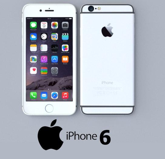 apple iphone silver 3d model