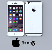apple iphone silver 3d model