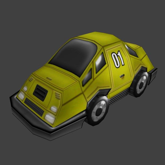 cartoon car obj