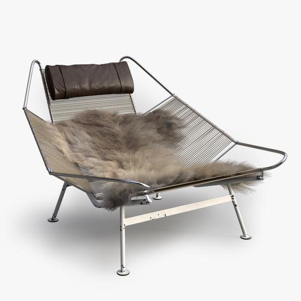 3d chair fur