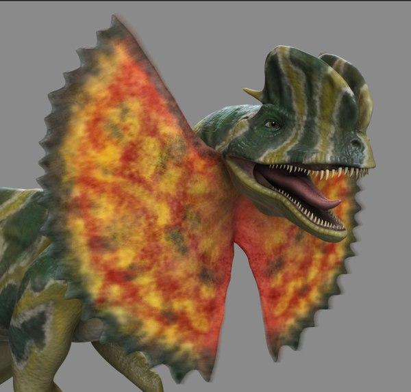 maya dilophosaurus frill jurassic