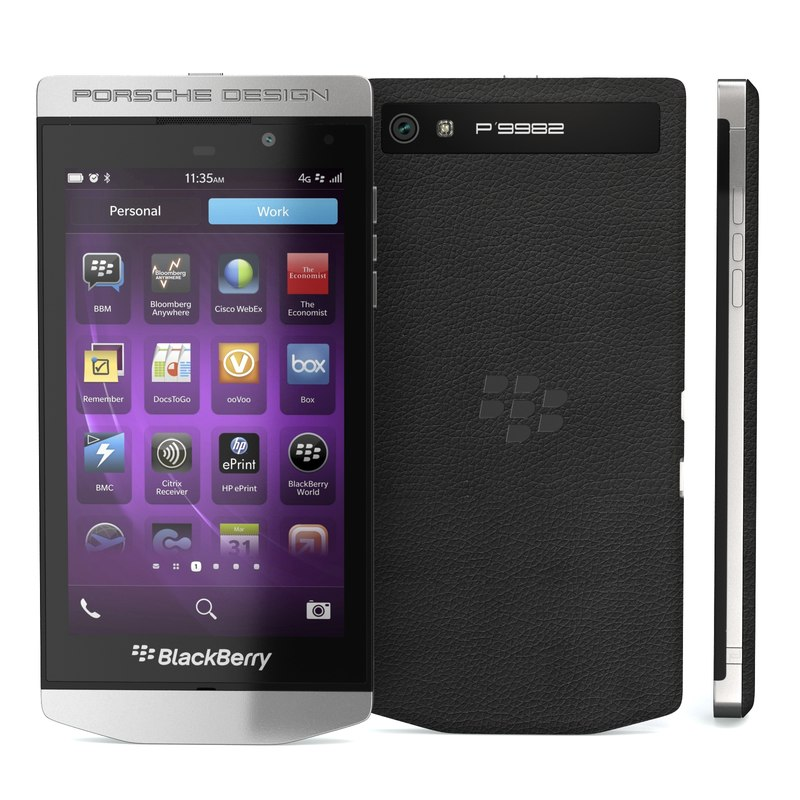 smartphone blackberry design p obj