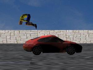 free parkour animation 3d model
