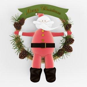 christmass wreath 3d 3ds