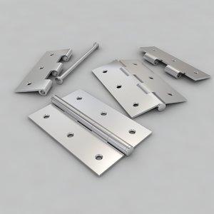 3d metal hinge model
