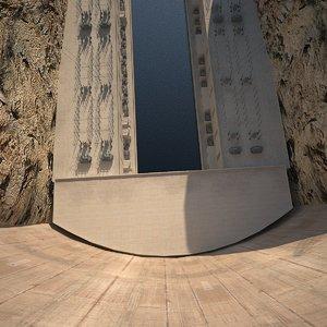3d model dam hydro electric