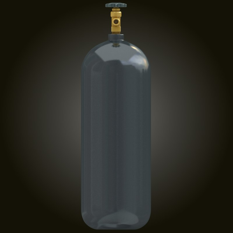3d 3ds realistic gas cylinder 7