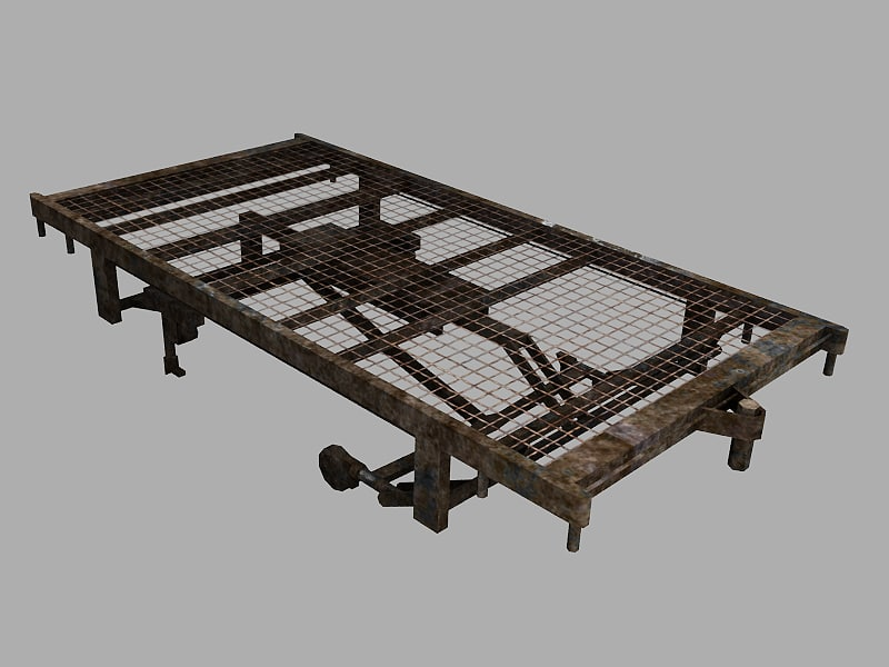 3d model old hospital bed frame