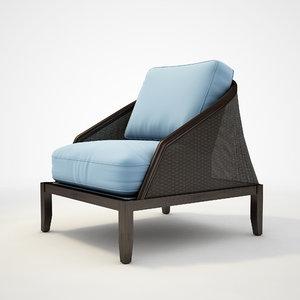 potocco - grace lounge chair 3d 3ds