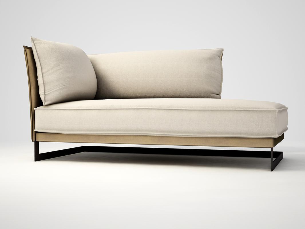 3ds max tollgard - figlio chaise lounge