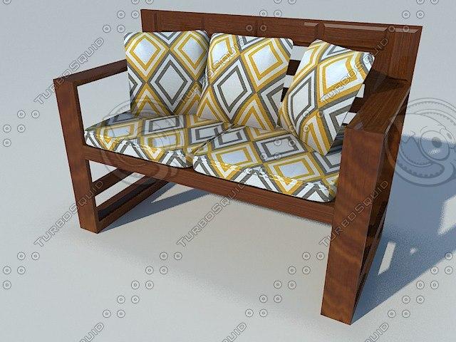 3d model terrace chair