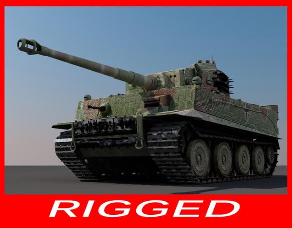 german ww2 tiger 1 3d max