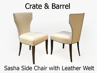 crate barrel sasha chair 3d obj