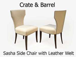crate barrel sasha chair 3d obj